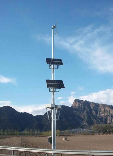 日照太阳能监控杆